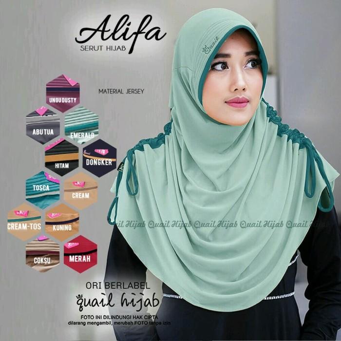 harga Jilbab alifa by quail hijab Tokopedia.com