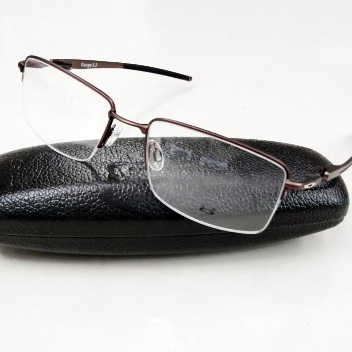 0592c204cc Jual kacamata Frame Minus Oakley Gauge 3.2 OX5129-C4 Titanium Metal ...