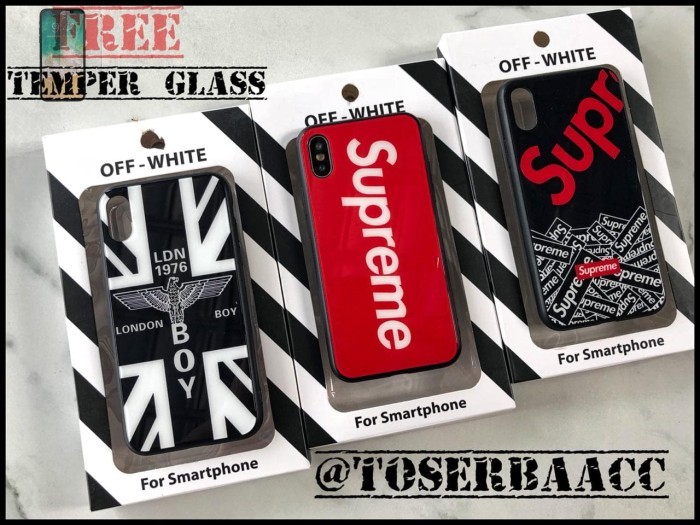 new products c6868 334b2 Jual HARDCASE SUPREME FOR IPHONE X/TEN CASE PREMIUM SUPREME IPHONE 10 CASE  - ToserbaAcc | Tokopedia