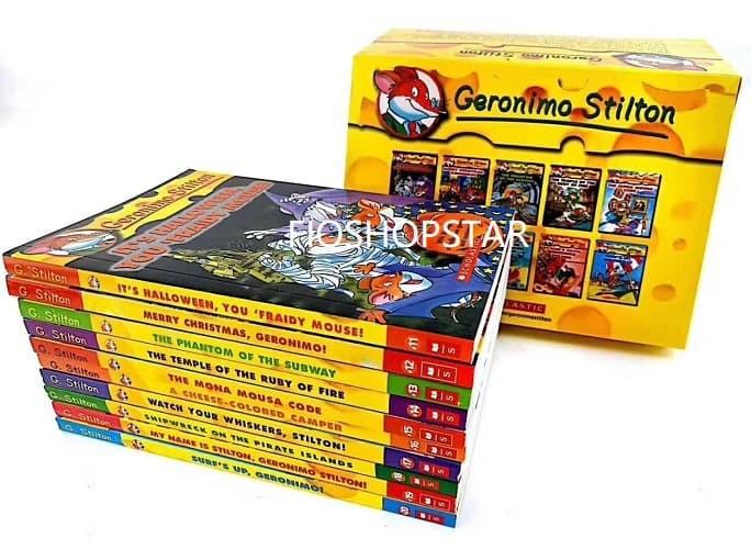 Buku Impor Novel Detektif Scholastic Geronimo Stilton Book Set 11-20