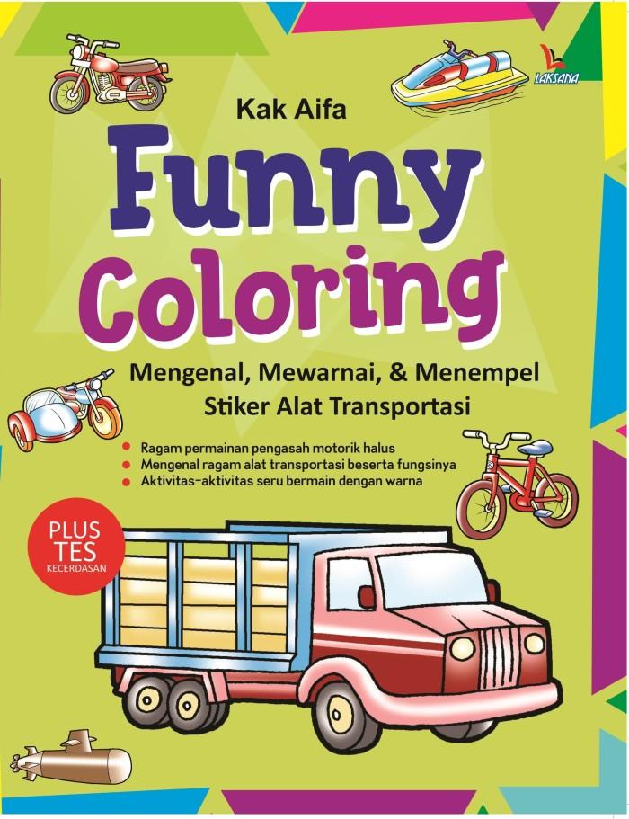 Jual Funny Coloring Mengenal Mewarnai Menempel Stiker Alat