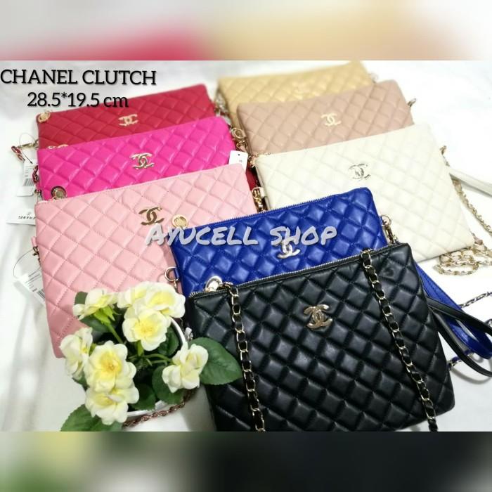 harga Tas wanita tas chanel clutch premium ada tali panjang Tokopedia.com