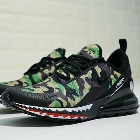 info for 0d841 b0f5f Jual Nike Air Max 270 x Bape Green ,Red , Black Grey - - aalishoes |  Tokopedia
