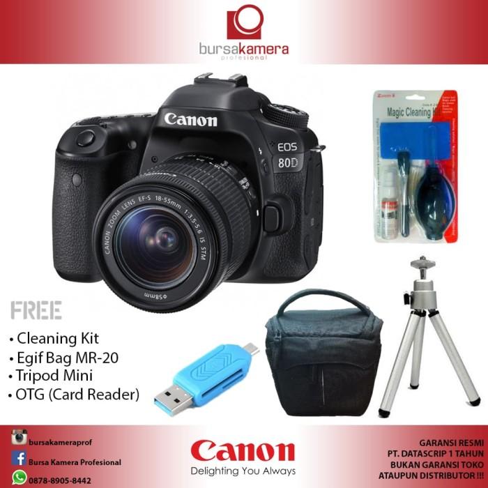 harga Canon eos 80d wi-fi dslr camera with 18-55mm Tokopedia.com