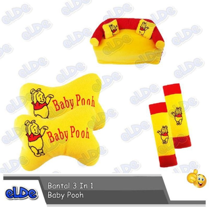 Bantal Mobil 3 In 1 Baby Pooh Grand Max