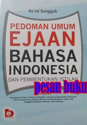 harga Buku pedoman umum ejaan bahasa indonesia dan pembentukan istilah Tokopedia.com