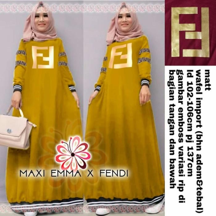 Jual Maxy Fantastic Kuning Busana Muslim Terbaru Baju Gamis Modern ... e0b563faea