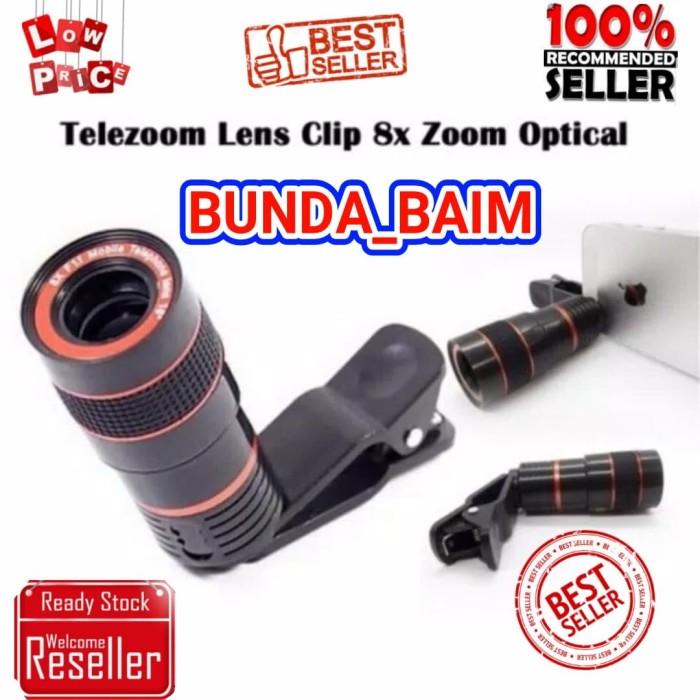 Telezoom jepit universal clip / lensa kamera handphone telescope ...