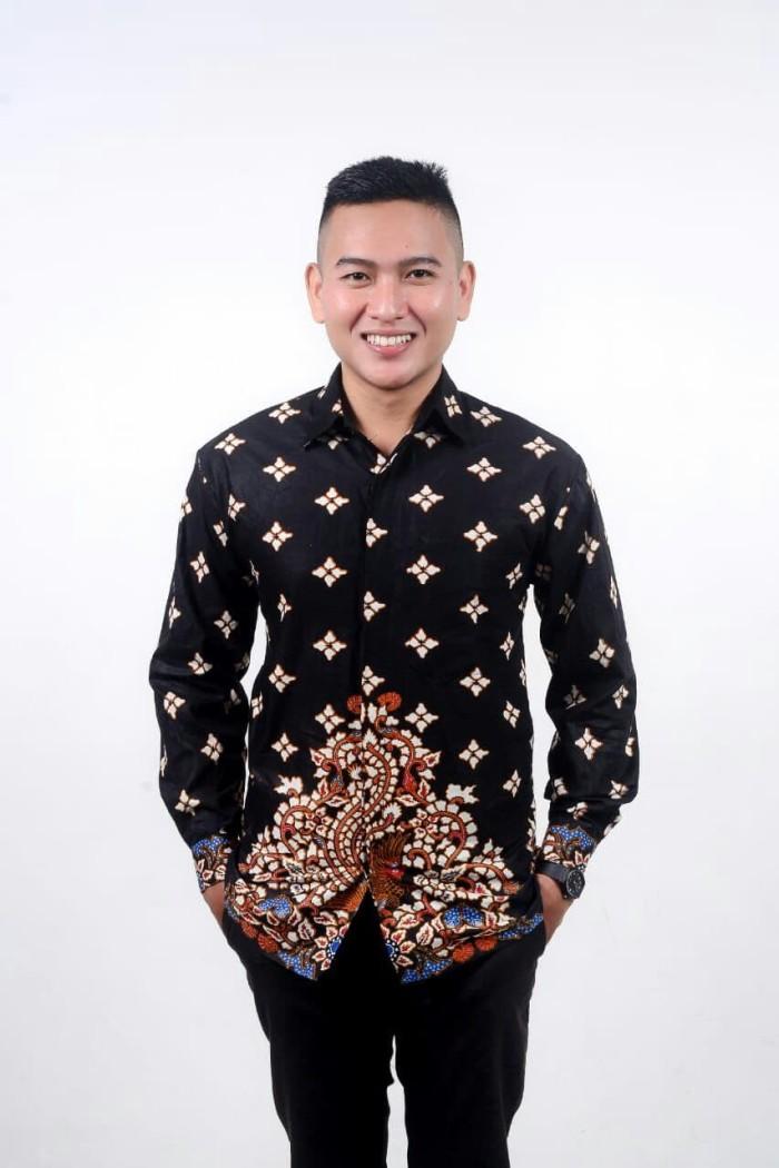 Kemeja Batik Reguler Fit B008 - Hitam, M
