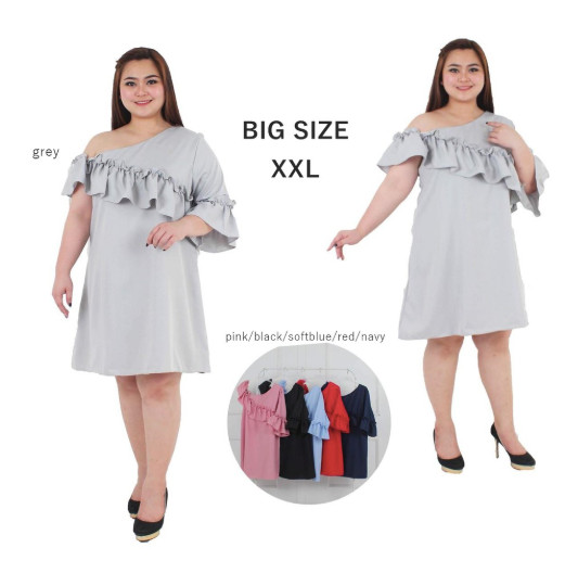 Jual Dress Jumbo Xxl Dress Sabrina Bigsize Dress Kasual Jumbo Dress