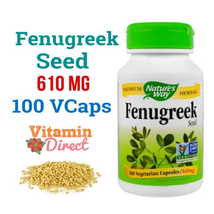 Nature's Way Fenugreek Seed 610 mg 100 VCaps - Booster ASI