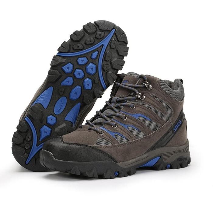 READY STOCK Sepatu Hiking Gunung Pria Wanita - Snta 475 Grey Blue ! 64060d1610