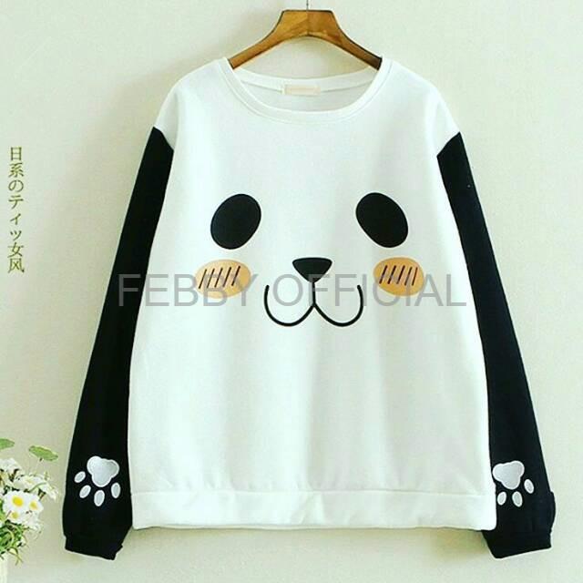 KAOS CEWEK KAOS WANITA KAOS PEREMPUAN Panda Tshirt