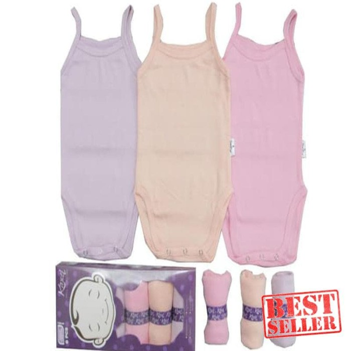 Murah - Jumper Bayi - KAZEL TANKTOP NEW GIRL ( ISI 6 PCS )