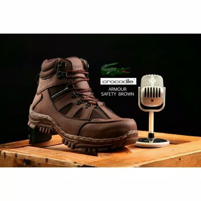 Jual sepatu boots safety pria crocodile armor delta proyek lapangan ... b8238504b1