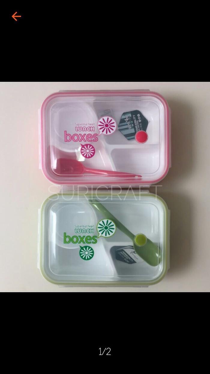 Jual Lunch Box Yooyee Sekat 4 Plus Wadah Soup Merah Mukidi33