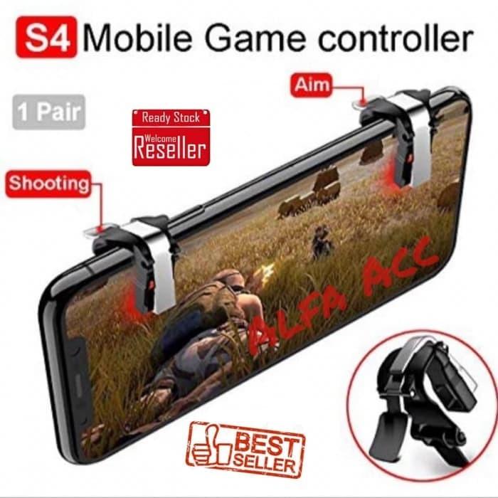 Foto Produk Trigger Gaming PUBG controller L1 R1 Joystick Sharpshooter S4 Metal dari ELLEXUS SHOP
