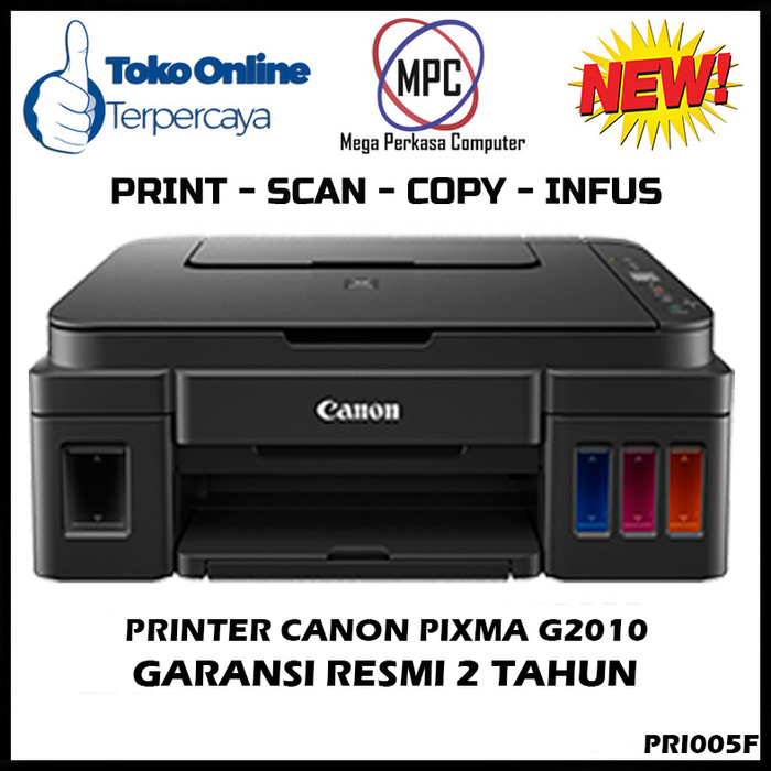 harga Printer canon inkjet printer multifunction pixma g2010 Tokopedia.com