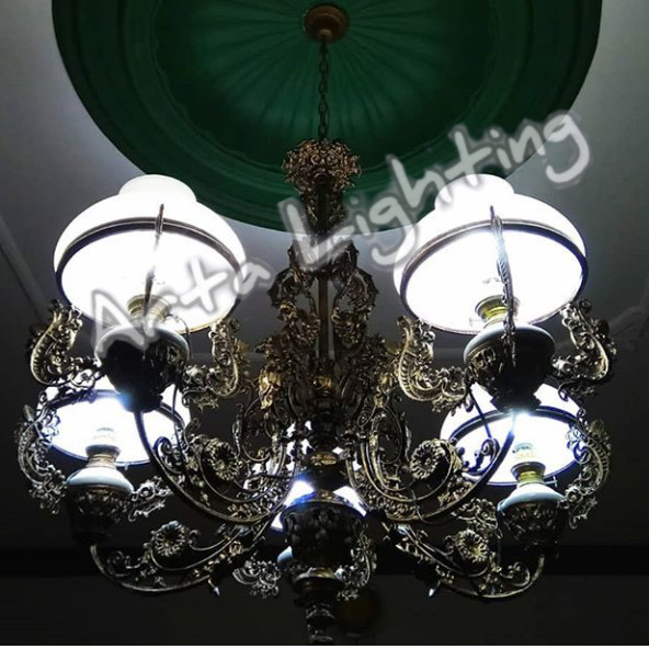 Lampu Gantung Klasik Cabang 5 Lampu Hias Antik