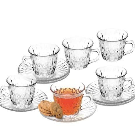 1 SET ISI 6 PCS GELAS CANGKIR / CANGKIR TEH / CANGKIR KOPI / CUP GLASS