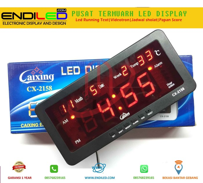 harga Jam dinding digital model 2b led merah Tokopedia.com