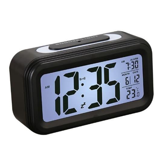 Jam Meja Digital / Desktop Smart Clock / Jam Meja Alarm - Hitam