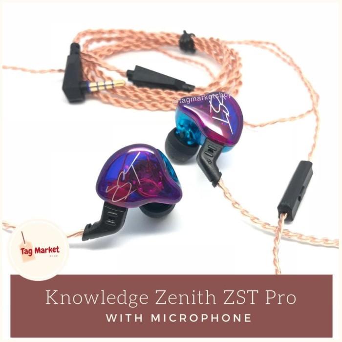 harga Knowledge zenith kz - zst pro hybrid detachable cable audio with mic Tokopedia.com