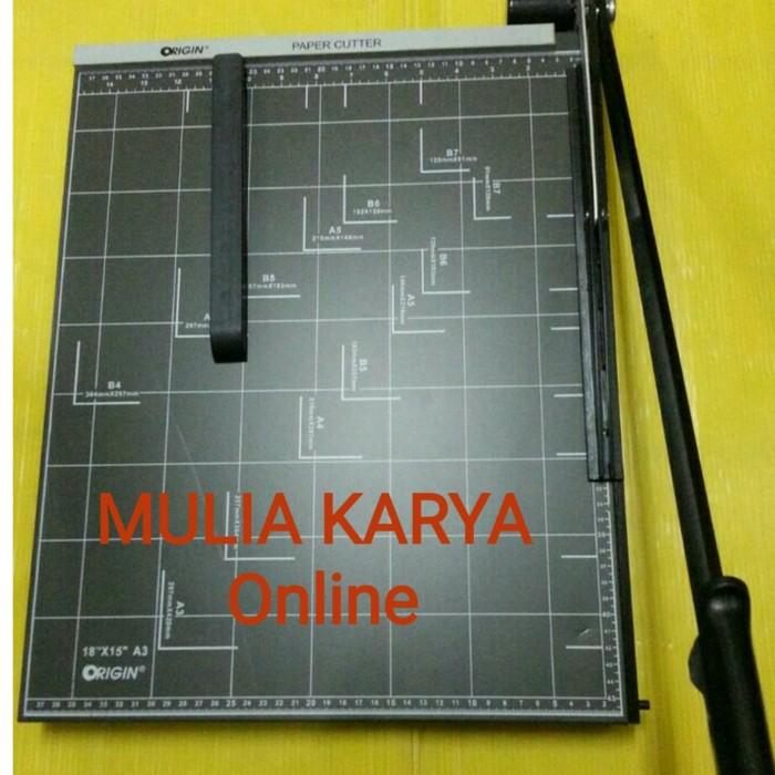 harga Pemotong kertas a3 paper cutter a3 origin alat potong kertas a3 Tokopedia.com