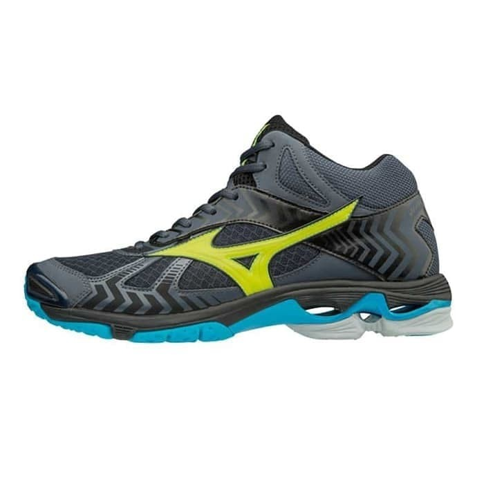 Jual Mizuno wave bolt 7 mid ombre blue   safety yellow terbaru 2018 ... 0abb08ae95