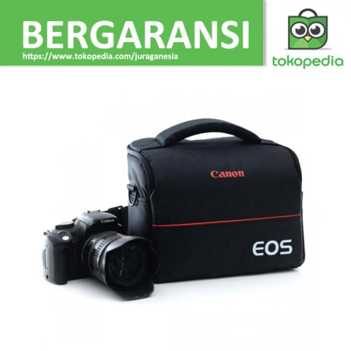 ... REBEL T2I T3I T4I T5 NIKON D3300 SONY PENTAX SAMSUNG PANASONIC DSLR KAMERA HITAM. EOS Tas Selempang Kamera DSLR for Canon Nikon - Hitam
