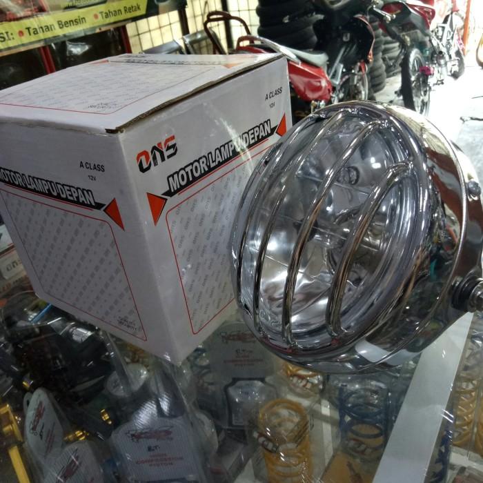 harga Reflektor headlamp lampu depan japstyle cafe racer grill garis tralis Tokopedia.com