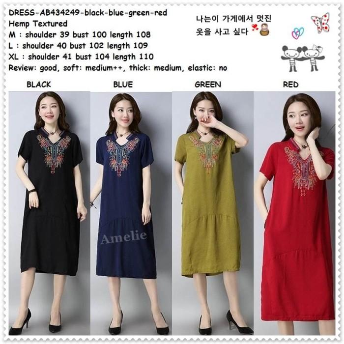 f4fb3e7e ... harga Midi mini dress boho bohemian etnik korea import ab434249 merah  hitam Tokopedia.com