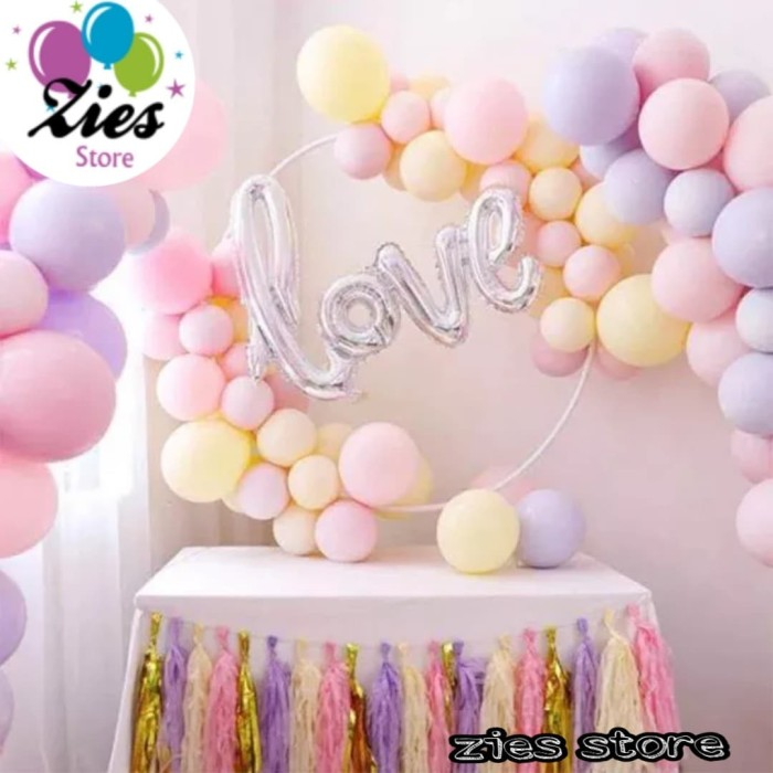 Jual Balon Latex Macaron Ballon Wedding Decoration Pastel Birthday Party Jakarta Pusat Zies Store Tokopedia
