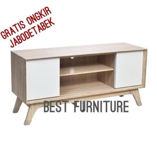 harga Best graver crd2282 meja tv rak tv minimalis uk 120x40x60 - putih Tokopedia.com