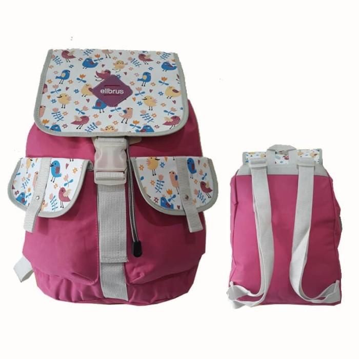 Tas Ransel Anak Perempuan Sekolah TK SD   Backpack Cewek Kasual Murah -  Hijau muda bfe9ba6dcf
