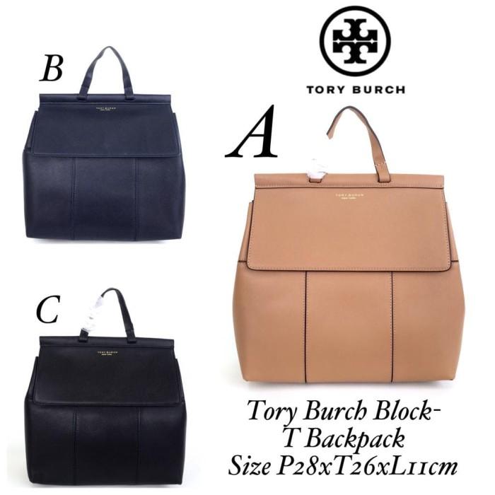 9622bcdd658 Jual Tory Burch Block-T Backpack 1 - BrandedQueen ID