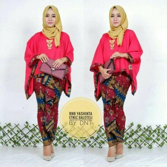 Jual Batik Kebaya Kutubaru Wanita Seragam Pesta Hijab Baju Muslim Modern Aneka Batik Garcia Tokopedia