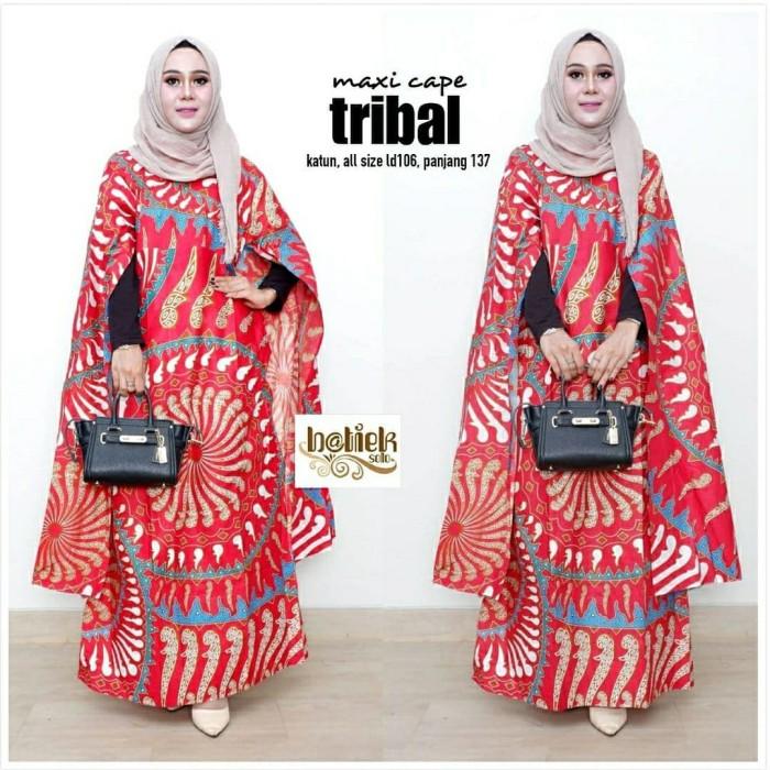 Jual Gamis batik maxi cape 2 baju batik atasan wanita pakaian ... 83267a0d4d
