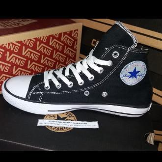 Jual Sepatu Converse Allstar High 3 4 Hitam Putih Kota Makassar