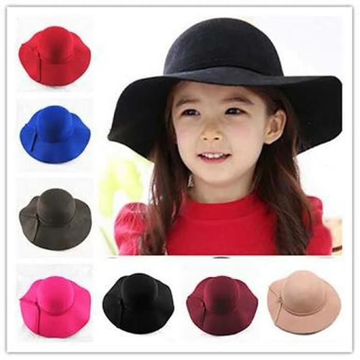 Jual topi pantai anak warna warni floppy hat Diskon - awanshop12 ... 8d31b5c287
