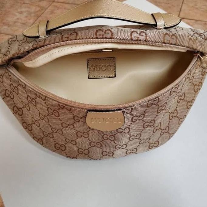 Jual Tas Wanita Waist Bag Tas Pinggang Gucci Kanvas Hits Best Seller ... 66774f6d9e