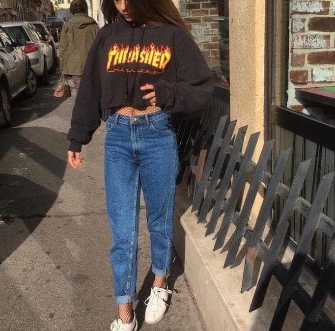 c87c6ae5dd73 Jual Jaket Crop Sweater Hoodie Crop Thrasher - yellojo
