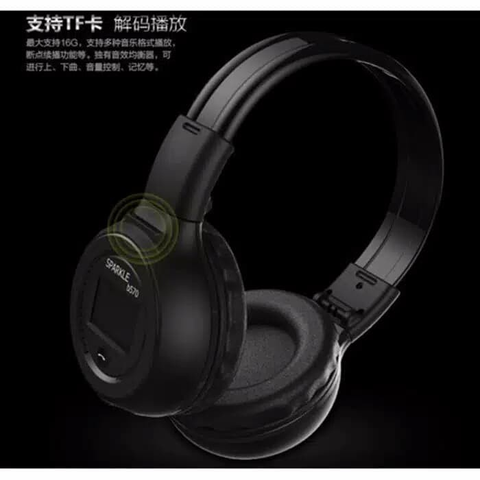 harga Zealot b570 wireless bluetooth headphone dengan fm tf - black Tokopedia.com
