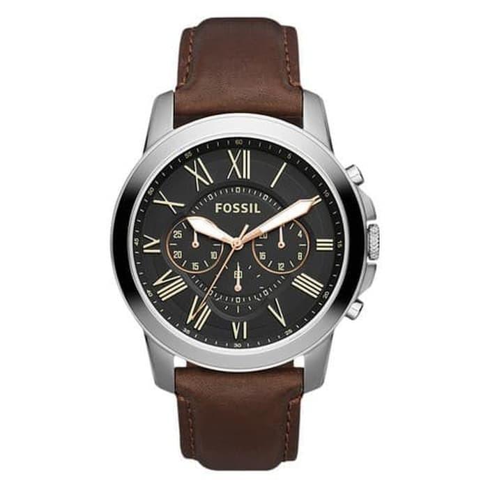Foto Produk Fossil Watch FS4813 Grant Chronograph Black Dial Brown Leat dari ocean_blue