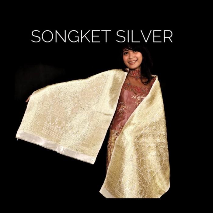 Jual Songket Palembang Alam Silver Kain Bawahan Kebaya Batiksongket Jakarta Pusat Batik Songket Indonesia Tokopedia