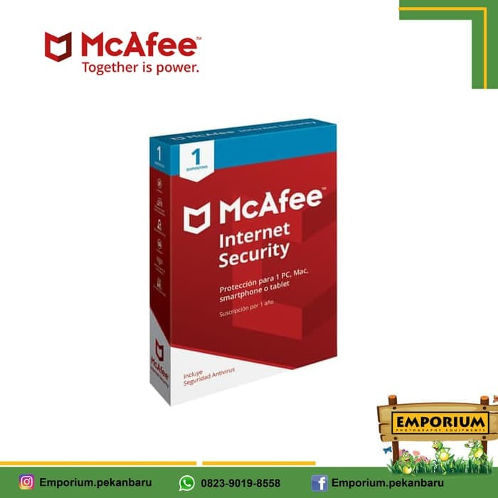 Jual Mcafee Internet Security Software Antivirus 1 Device Kota Pekanbaru Emporium Shop Tokopedia