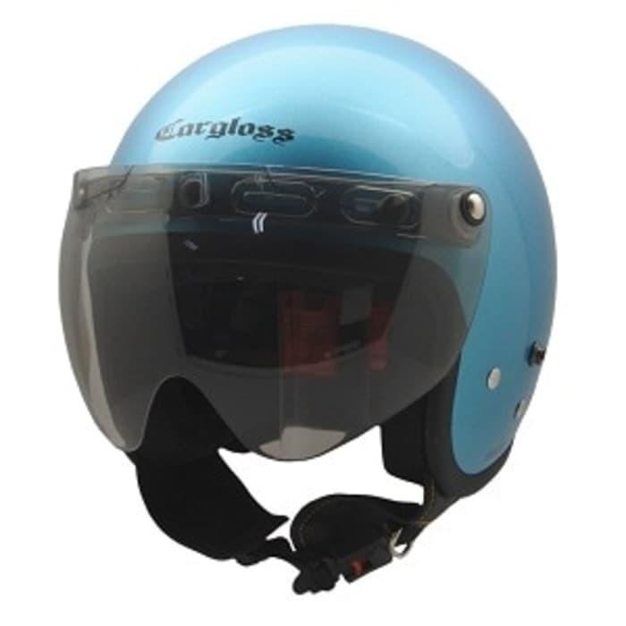 harga Promo helm cargloss cf retro + kaca visor r3 Tokopedia.com