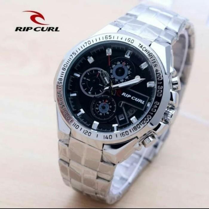 harga Jam tangan pria ripcul date crono aktif stainlist silver black Tokopedia.com