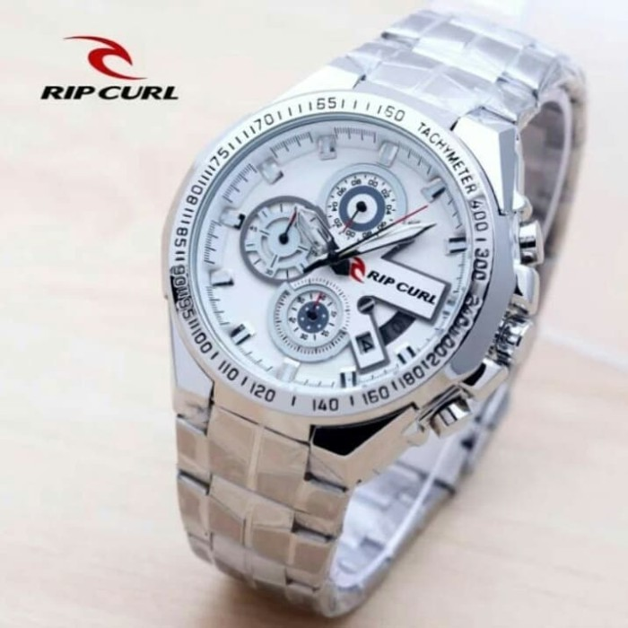 harga Jam tangan pria ripcul date crono aktif stainlist silver Tokopedia.com