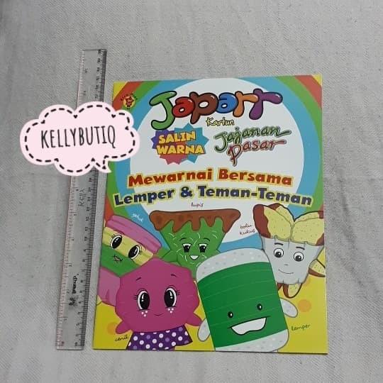 Jual Buku Keterampilan Anak Mewarnai Karakter Aneka Kue Jajanan